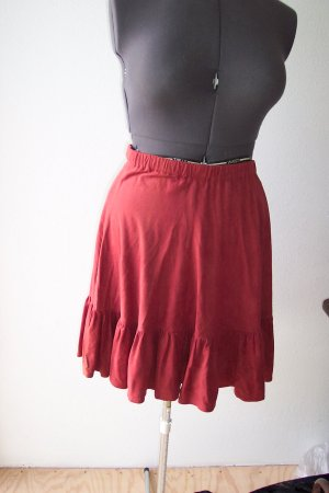Copper Color Suede feel Square Dance Skirt *