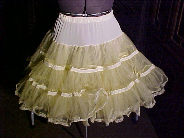 Square Dance -- Pastel Yellow Petticoat -- Raver; Punk; and Harijuku *