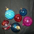 6 Individual Vintage Christmas Ornaments