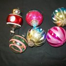 6 Vintage Christmas Ornaments