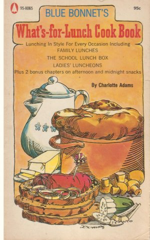 VINTAGE Blue Bonnet's What's for Lunch Cook Book *