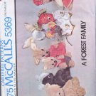 5369 McCall's -- Forest Family of Stuffed Animals *