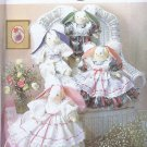 "7044 Simplicity -- 18"" Suffed Angel Bunnies with Clothes *"
