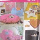 5105 Simplicity -- Ottoman, Bean Bag Chair, Pillows *
