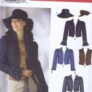 5836 Simplicity -- Jacket and Vest, Bags and Hat *