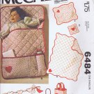 6484 McCall's -- Baby Accessories, Bunting, Quilt *