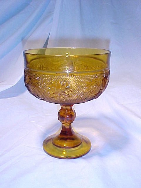 Tiara Glassware -- Compote AND 2 Tiered Tidbit Tray