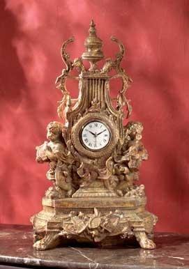 BAROQUE CHERUB CLOCK