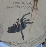 """Large Light """"I'm not a Freak"""" T-shirt"""