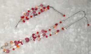 Set of a Necklace and Bracelets