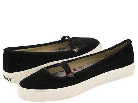 ROXY Radcliff BLACK velvet SHOES mary jane FLATS size 8