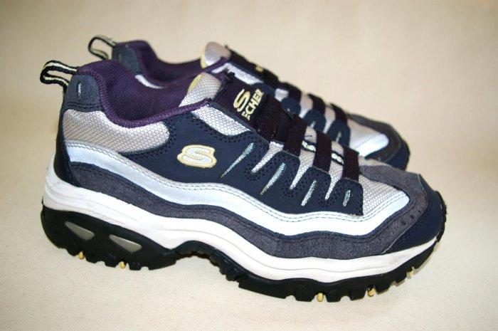 SKECHERS sketchers SPORT Womens BLUE Sneakers size 8 38