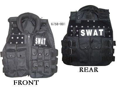 SWAT Modular black tactical vest
