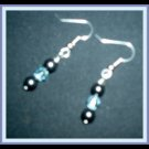 Blue crystal and black onyx