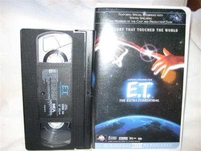 E.T. VHS Tape Movie The Extra-Terrestrial