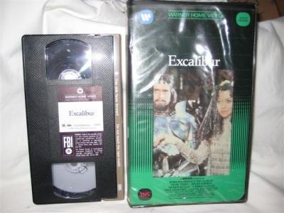 Excalibur VHSMovie Tape