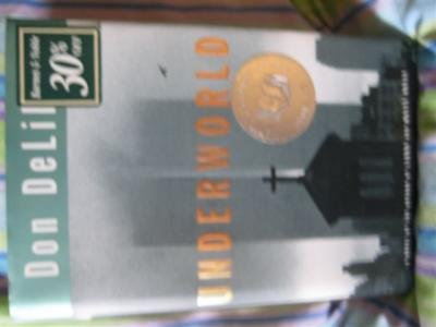 Underworld Book by Don DeLillo Hardcover with DJ