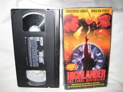Highlander The Final Dimension VHS Tape Lambert Peebles