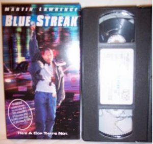 BLUE STREAK VHS Tape Martin Lawrence Action Comedy