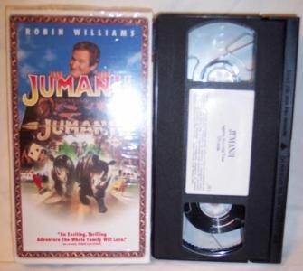 Jumanji VHS Tape Family Robin Williams Kirsten Dunst