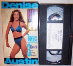 Denise Austin Hit The Spot Thighs VHS Tape