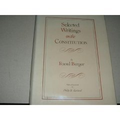 Selected Writings on the Constitution ( 0940973006)