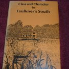 Class and Character in Faulkner's South