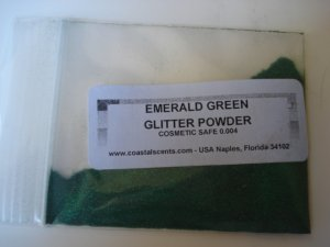 Coastal Scents Glitter Powder in Emerald Green