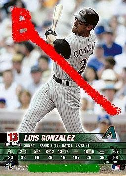 Luis Gonzalez 2004 base set