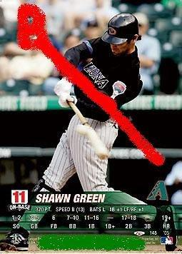 Shawn Green 2005 base set