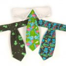 Frog - Dog Tie Gift Set and  Dog Collar Medium
