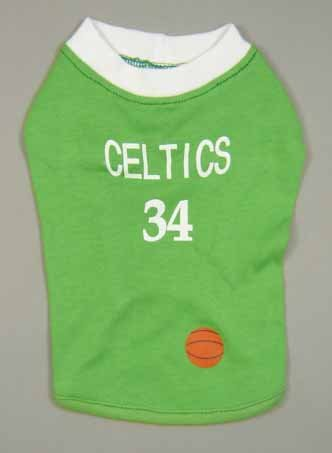 #34 Basketball Dog T-shirt Celtics Small