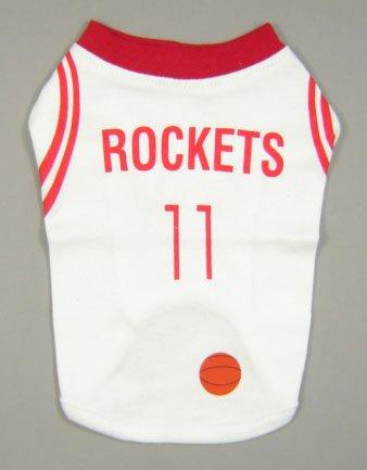 #11 Basketball Dog T-shirt Rockets Small