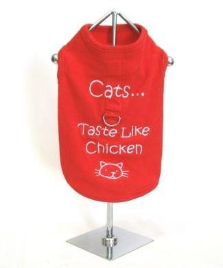 Cats...Taste Like Chicken Harness-T X Small Dog Shirt