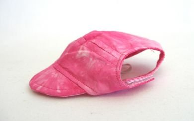 Pink Tie Die Visor Cap X Small dog hat