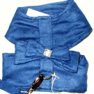 Soft Suede Harness w/Leash - Blue Dog Harness XSmall