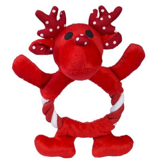 SALE Zanies Festive Fling-A-Rings Reindeer Dog Toy