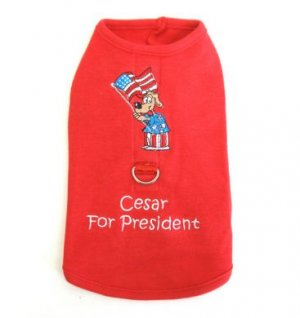 Cesar For President  Harness-T Large Dog Shirt