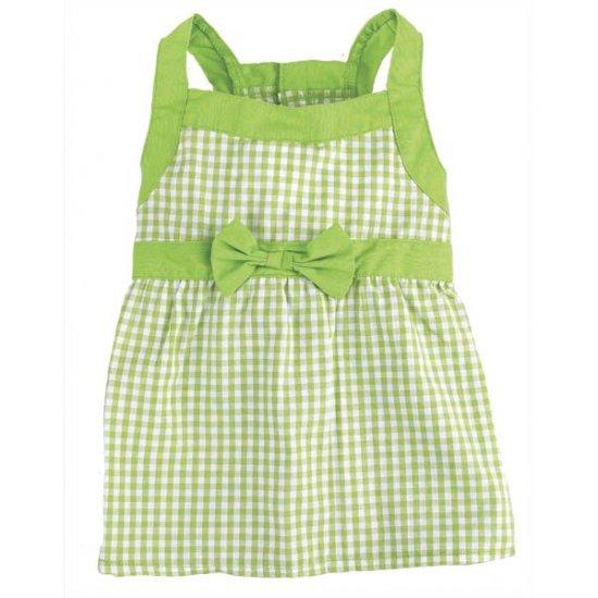 Sale East Side Collection Gingham Dog Dresses Med Parrot Green