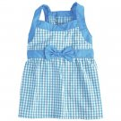 Sale East Side Collection Gingham Dog Dresses XX Small Bluebird