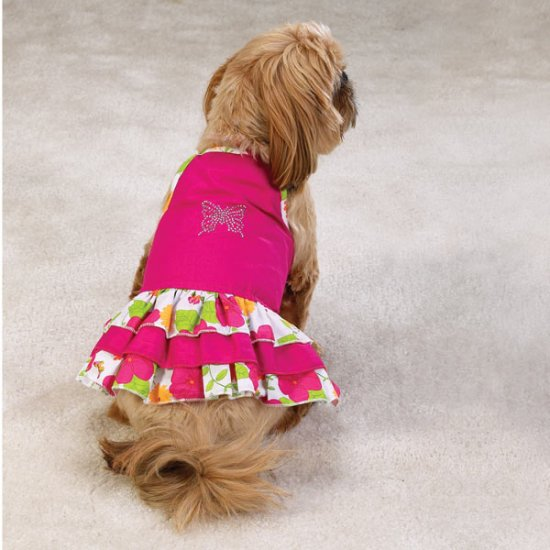 Sale East Side Collection Garden Floral Dog Sundresses X Small