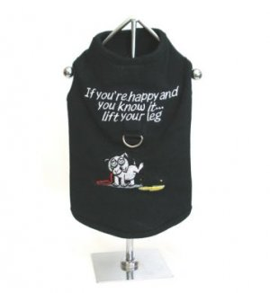 Sale If Your Happy and You Know It...Lift Your Leg Harness-T Medium Dog Shirt