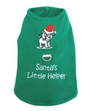 SALE Santa's Little Helper Harness-T Small Dog Shirt