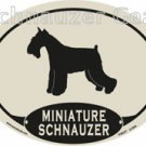 MINIATURE Schnauzer Oval Decal Sticker -  FREE SHIPPING