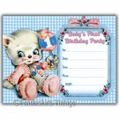 Vintage Baby's 1st First Birthday Party Invitations