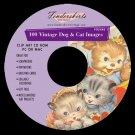 Vintage 40's 50's Dog & Cat Images Clipart Clip Art CD