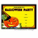 Vintage Retro Winking Jack Halloween Party Invitations
