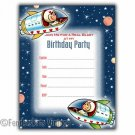 Vintage Retro Space Cadet Birthday Party Invitations