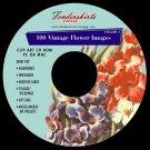 Vintage 1930s-1950s Flower Images Clipart Clip Art CD