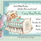 Custom Vintage Baby Cradle Birth Announcements